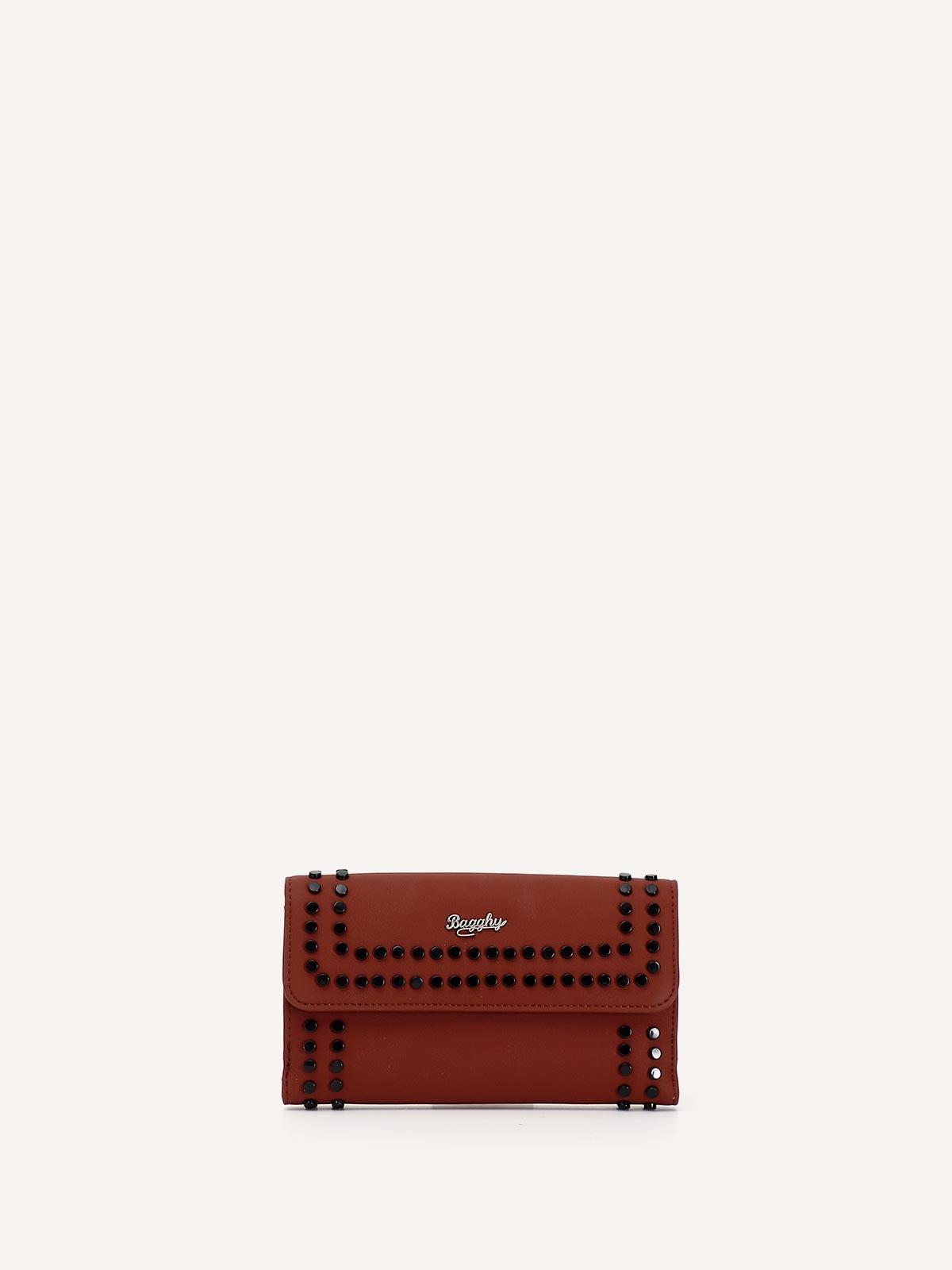 Portafoglio donna rosso con borchie Bagghy